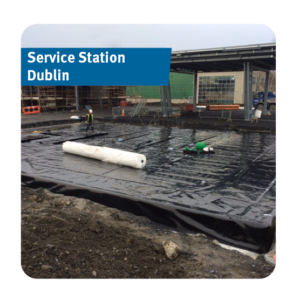 Stormwater Attenuation Tank installed for a Service Station in Dublin