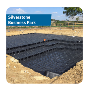 Stormwater Attenuation Tank installed at Silverstone Business Park