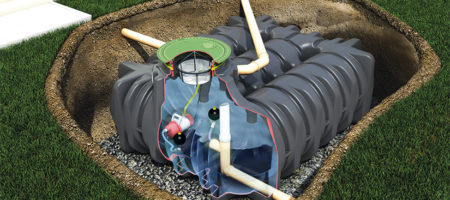 What's a combined rainwater harvesting and stormwater tank?